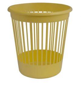 Корзина для бумаг пластиковая АРНИКА 10 л, желтая