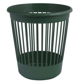 Корзина для бумаг пластиковая АРНИКА 10 л, зеленая