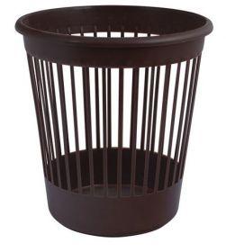 Корзина для бумаг пластиковая АРНИКА 10 л, коричневая
