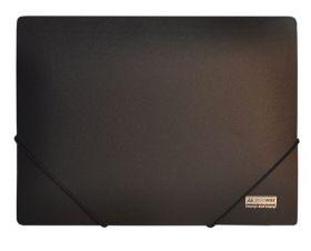 Папка на резинках Buromax JOBMAX А4, 450 мкм, черная