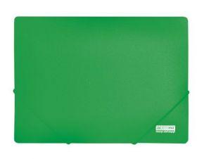 Папка на резинках Buromax JOBMAX А4, 450 мкм, зеленая