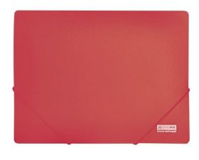 Папка на резинках Buromax JOBMAX А4, 450 мкм, красная
