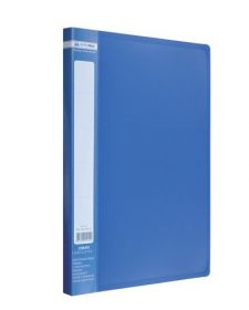 Папка с прижимом Buromax А4, 450 мкм, синяя