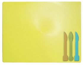 Доска для пластилина ZiBi 18х25 см, 3 стека, желтая
