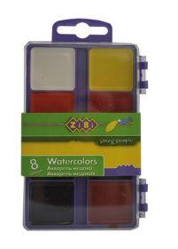 Краски акварельные Zibi, без кисти, 8 цветов