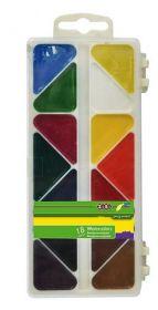 Краски акварельные Zibi, без кисти, 18 цветов