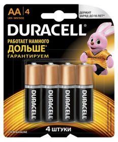 Батарейка DURACELL LR6 (AA), 4 шт.