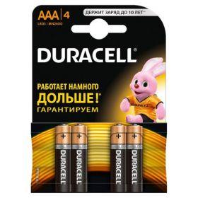 Батарейка DURACELL LR03 (AAA), 4 шт.