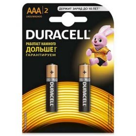 Батарейка DURACELL LR03 (AAA), 2 шт.