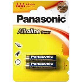 Батарейка Panasonic ALKALINE POWER LR03 (AAA), 2 шт.