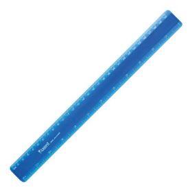 Линейка пластиковая, 30 см, синяя