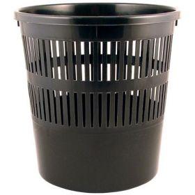Корзина для бумаг пластиковая Delta 8 л, черная
