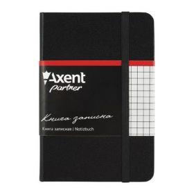 Книга записная Partner, 95х140 мм, 96 листов, клетка, черная