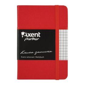 Книга записная Partner, 95х140 мм, 96 листов, клетка, красная