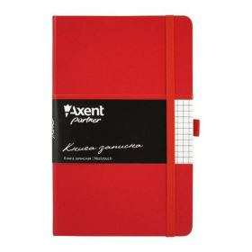 Книга записная Partner, 125х195 мм, 96 листов, клетка, красная
