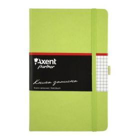Книга записная Partner, 125х195 мм, 96 листов, клетка, салатовая