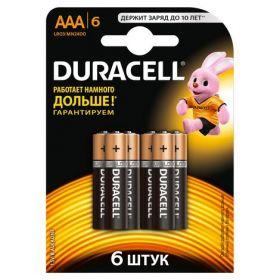 Батарейка DURACELL LR03 (АAA), 6 шт.