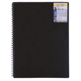 Бизнес-тетрадь на пружине Classic А6, 80 листов, клетка, пластиковая обложка, черный