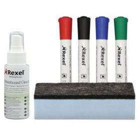 Набор аксессуаров для маркерных досок Rexel Whiteboardcleanin
