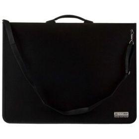 Папка-портфель пластиковая з 9 кольцами, A1, черная