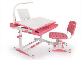 Комплект парта и стульчик Evo-kids BD-04 P New с лампой