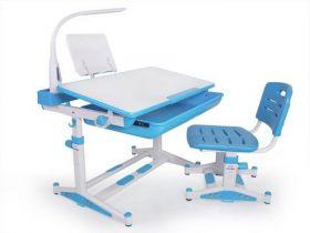 Комплект парта и стульчик Evo-kids BD-04 B New (XL) с лампой