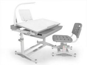 Комплект парта и стульчик Evo-kids BD-04 G New (XL) с лампой
