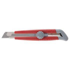 Нож канцелярский Axent, 18 мм, серо-красный