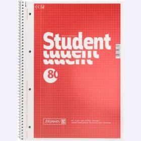 Колледж-блокА4, 80 листов, клетка,красный