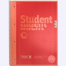 Колледж-блокА4Premium, 80 листов, клетка,красный