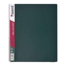 Папка на кольцах Axent А4, 35 мм, 4R, РР, зелёная