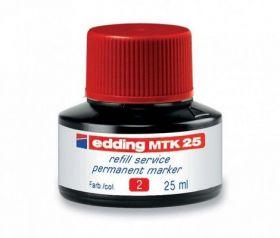 Чернила e-MTK25 для заправки перманентных маркеров, красный