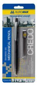 Карандаш механическийCREDO + сменные грифели,0.5 мм, в блистере