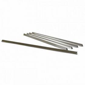 Планки металлические 300 мм, бесцветные, нижние, 500 шт.