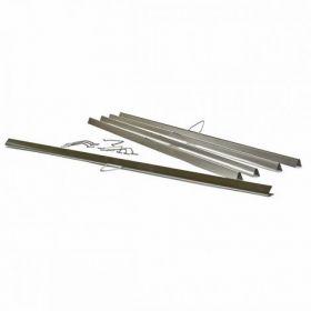 Планки металлические 600 мм, бесцветные, верхние, 500 шт.