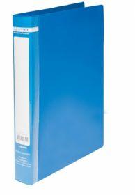 Папка на кольцах Buromax А4, 25 мм, 2R, РР, синяя