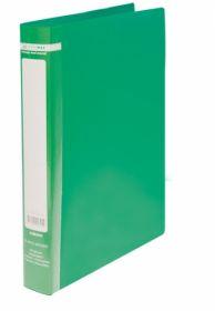 Папка на кольцах Buromax А4, 25 мм, 2R, РР, зеленая