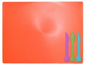 Доска для пластилина ZiBi 18х25 см,3стека,коралловая