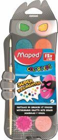 Краски акварельные Maped COLORPEPS, с кистью, 12 цветов