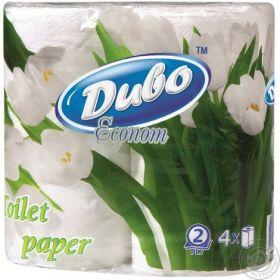 Бумага туалетная целлюлозная Диво Econom, 2 слоя, 4 рулона, белая