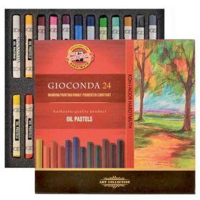Пастельные мелки масляные Gioconda, 24 цвета
