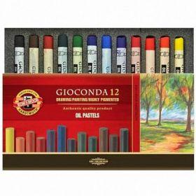 Пастельные мелки масляные Gioconda, 12 цветов