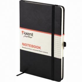 Книга записная Partner Lux, 125х195 мм, 96 листов, клетка, черный