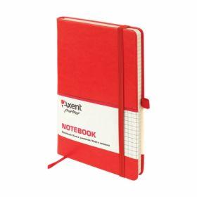 Книга записная Partner Lux, 125х195 мм, 96 листов, клетка, красный