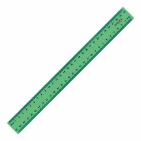 Линейка пластиковая, 30см, зеленая