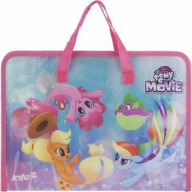 Портфель пластиковый, 1 отделение,A4, на молнии,My Little Pony