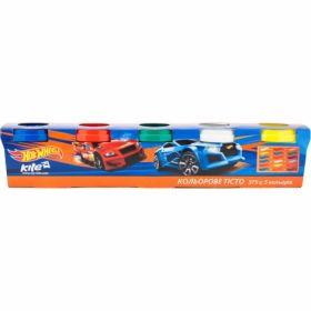 Тесто для лепки цветное, 5 цветов, 375г, Hot Wheels