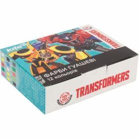 Гуашь Kite, 12 цветов, 20мл, Transformers