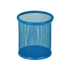 Подставка для ручек металлическая круглая KITE, голубая