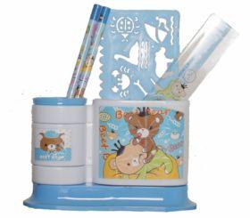 Набор настольный Evo-kids, 5 предметов, голубой